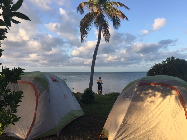 Camping on a bike tour of Florida Keys