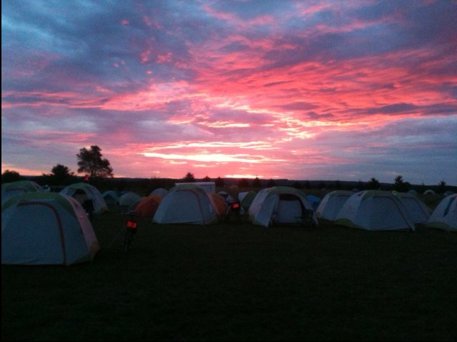 Sunrise on RAGBRAI