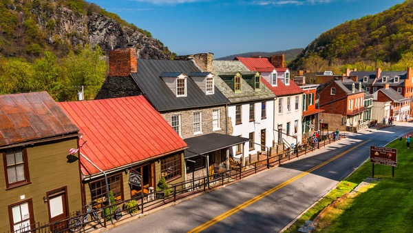 The scene as you enter Harpers Ferry National Park